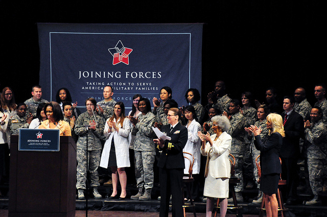 First Lady Michelle Obama Speaking at Joining Forces Event